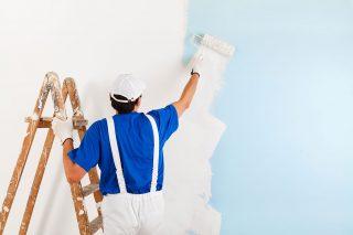 imbiancamento pareti con pitture del colorificio tocco